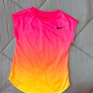 Nike Dri-fit pink ombré shirt
